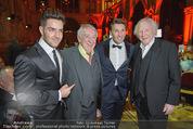 Vienna Filmball - Rathaus - Sa 14.03.2015 - Dieter HALLERVORDEN, Karl MERKATZ, Mark und Aaron KELLER237