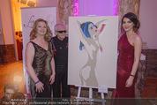Dancer against Cancer - Hofburg - Sa 11.04.2015 - Amina DAGI mit ihrem Bild, Walter HACHLEITNER, Mirella ZAMUNER375
