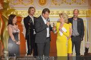 Romy Akademiepreise - Hofburg - Do 23.04.2015 - Puls4-Team auf der B�hne, Markus BREITENECKER, Elisabeth G�RTL48