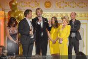 Romy Akademiepreise - Hofburg - Do 23.04.2015 - Puls4-Team auf der B�hne, Markus BREITENECKER, Elisabeth G�RTL51