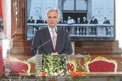 Staatsakt 60 Jahre Staatsvertrag - Oberes Belvedere - Fr 15.05.2015 - Werner FAYMANN bei Ansprache102