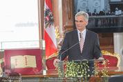 Staatsakt 60 Jahre Staatsvertrag - Oberes Belvedere - Fr 15.05.2015 - Werner FAYMANN bei Ansprache105