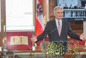 Staatsakt 60 Jahre Staatsvertrag - Oberes Belvedere - Fr 15.05.2015 - Werner FAYMANN bei Ansprache106