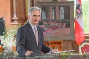 Staatsakt 60 Jahre Staatsvertrag - Oberes Belvedere - Fr 15.05.2015 - Werner FAYMANN bei Ansprache109