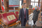 Staatsakt 60 Jahre Staatsvertrag - Oberes Belvedere - Fr 15.05.2015 - Josef OSTERMAYER, Agens HUSSLEIN11