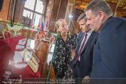 Staatsakt 60 Jahre Staatsvertrag - Oberes Belvedere - Fr 15.05.2015 - Josef OSTERMAYER, Agens HUSSLEIN, Andr� RUPPRECHTER12