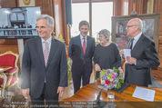 Staatsakt 60 Jahre Staatsvertrag - Oberes Belvedere - Fr 15.05.2015 - Werner FAYMANN, Elisabeth ORT, Michael HELTAU, Josef OSTERMAYER128