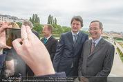 Staatsakt 60 Jahre Staatsvertrag - Oberes Belvedere - Fr 15.05.2015 - Helmuth BRANDST�TTER, Christoph LEITL140
