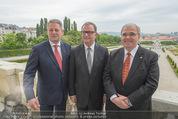 Staatsakt 60 Jahre Staatsvertrag - Oberes Belvedere - Fr 15.05.2015 - Andr� RUPPRECHTER, Karlheinz KOPF, Wolfgang BRANDSTETTER153