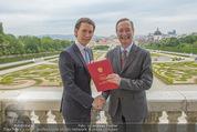 Staatsakt 60 Jahre Staatsvertrag - Oberes Belvedere - Fr 15.05.2015 - Sebastian KURZ, Christoph LEITL163