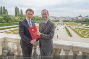 Staatsakt 60 Jahre Staatsvertrag - Oberes Belvedere - Fr 15.05.2015 - Sebastian KURZ, Christoph LEITL165