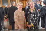 Staatsakt 60 Jahre Staatsvertrag - Oberes Belvedere - Fr 15.05.2015 - Karin BERGMANN, Agens HUSSLEIN26