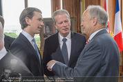 Staatsakt 60 Jahre Staatsvertrag - Oberes Belvedere - Fr 15.05.2015 - Sebastian KURZ, Reinhold MITTERLEHNER, Andreas KOHL48