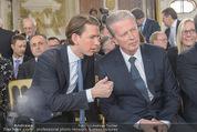 Staatsakt 60 Jahre Staatsvertrag - Oberes Belvedere - Fr 15.05.2015 - Sebastian KURZ, Reinhold MITTERLEHNER57