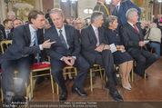 Staatsakt 60 Jahre Staatsvertrag - Oberes Belvedere - Fr 15.05.2015 - Sebastian KURZ, R.MITTERLEHNER, W. FAYMANN, Heinz u. M. FISCHER58