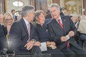 Staatsakt 60 Jahre Staatsvertrag - Oberes Belvedere - Fr 15.05.2015 - Werner FAYMANN, Heinz u. Margit FISCHER60