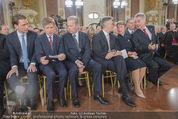 Staatsakt 60 Jahre Staatsvertrag - Oberes Belvedere - Fr 15.05.2015 - Sebastian KURZ, R.MITTERLEHNER, W. FAYMANN, Heinz u. M. FISCHER61