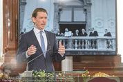 Staatsakt 60 Jahre Staatsvertrag - Oberes Belvedere - Fr 15.05.2015 - Sebastian KURZ bei Ansprache71