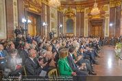 Staatsakt 60 Jahre Staatsvertrag - Oberes Belvedere - Fr 15.05.2015 - �bersichtsfoto Panorama G�ste Regierung Ansprache Marmorsaal85