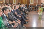 Staatsakt 60 Jahre Staatsvertrag - Oberes Belvedere - Fr 15.05.2015 - �bersichtsfoto Panorama G�ste Regierung Ansprache Marmorsaal86