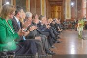 Staatsakt 60 Jahre Staatsvertrag - Oberes Belvedere - Fr 15.05.2015 - �bersichtsfoto Panorama G�ste Regierung Ansprache Marmorsaal87