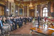 Staatsakt 60 Jahre Staatsvertrag - Oberes Belvedere - Fr 15.05.2015 - �bersichtsfoto Panorama G�ste Regierung Ansprache Marmorsaal92