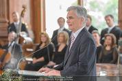 Staatsakt 60 Jahre Staatsvertrag - Oberes Belvedere - Fr 15.05.2015 - Werner FAYMANN bei Ansprache94