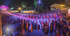 Lifeball Eröffnung - Rathaus - Sa 16.05.2015 - Rathausplatz, Menschenmenge, �bersichtsfoto (Panorama)17