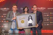 Conchita Wurst PK - Stadthalle Wien - Do 21.05.2015 - Conchita WURST, Dietmar LIENBACHER, Rene BERTO5