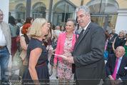 Ausstellungseröffnung - Belvedere Winterpalais - Mi 10.06.2015 - Agnes HUSSLEIN, Hans J�rg SCHELLING mit Ehefrau Uschi13