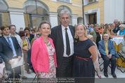 Ausstellungseröffnung - Belvedere Winterpalais - Mi 10.06.2015 - Agnes HUSSLEIN, Hans J�rg SCHELLING mit Ehefrau Uschi14