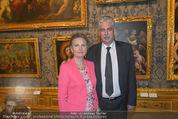 Ausstellungseröffnung - Belvedere Winterpalais - Mi 10.06.2015 - Hans J�rg SCHELLING mit Ehefrau Uschi48