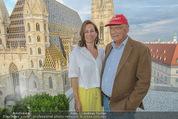 Peschev Kollektionspräsentation - Penthouse am Stephansplatz - Di 16.06.2015 - Niki LAUDA mit Ehefrau Birgit108