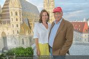 Peschev Kollektionspräsentation - Penthouse am Stephansplatz - Di 16.06.2015 - Niki LAUDA mit Ehefrau Birgit109