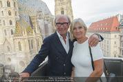 Peschev Kollektionspräsentation - Penthouse am Stephansplatz - Di 16.06.2015 - Reinhard K�CK mit Ehefrau Rosi27