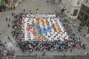 Peschev Kollektionspräsentation - Penthouse am Stephansplatz - Di 16.06.2015 - Flashmob am Stephansplatz (Drei-Werbung)62