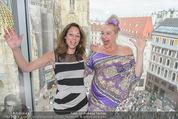 Peschev Kollektionspräsentation - Penthouse am Stephansplatz - Di 16.06.2015 - Vera RUSSWURM, Andrea BUDAY72