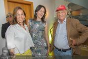 Peschev Kollektionspräsentation - Penthouse am Stephansplatz - Di 16.06.2015 - Anelia PESCHEV, Niki und Birgit LAUDA88
