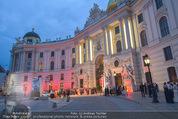 Fete Imperiale - Spanische Hofreitschule - Fr 26.06.2015 - Blick auf Hofburg, Eingangsbereich, Michaelerplatz, Red Carpet5