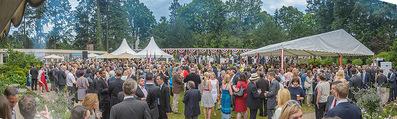 Empfang zum Independence Day - Restidenz der US Botschaft - Di 30.06.2015 - �bersichtsfoto, G�ste, Gartenfest, Feier, Sommerfest8