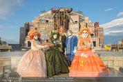 Eine Nacht in Venedig Premiere - Seebühne Mörbisch - Do 09.07.2015 - Dagmar SCHELLENBERGER mit venezianischen Masken4
