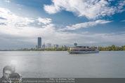 Gourmet Schifffahrt - MS Kaiserin Elisabeth - Di 14.07.2015 - Donau Skyline Vienna DC Tower UNO City Donauturm Schiffe60