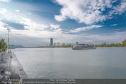 Gourmet Schifffahrt - MS Kaiserin Elisabeth - Di 14.07.2015 - Donau Skyline Vienna DC Tower UNO City Donauturm Schiffe61