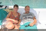 Beachvolleyball FR - Klagenfurt - Fr 31.07.2015 - Thomas MUSTER mit Ehefrau Caroline OFNER13