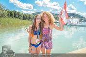 Beachvolleyball FR - Klagenfurt - Fr 31.07.2015 - Sandra PIRES mit Tochter Lea15