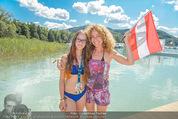Beachvolleyball FR - Klagenfurt - Fr 31.07.2015 - Sandra PIRES mit Tochter Lea3