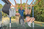 Promi Fitness mit Wendy Night - Donaupark - Di 18.08.2015 - Yvonne RUEFF, Thomas GLOCK, Wendy NIGHT (Michaela WOLF)23