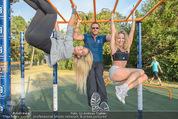 Promi Fitness mit Wendy Night - Donaupark - Di 18.08.2015 - Yvonne RUEFF, Thomas GLOCK, Wendy NIGHT (Michaela WOLF)24