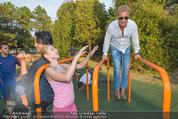 Promi Fitness mit Wendy Night - Donaupark - Di 18.08.2015 - Christina NOELLE, Josef WINKLER50