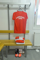 Samsung Charity Soccer Cup - Alpbach, Tirol - Di 01.09.2015 - Eigene Umkleidekabine mit Dress f�r Natalia CORRALES-DIEZ8